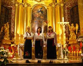 Auftritt in der Kathedrale der Stadt Kelze 2005