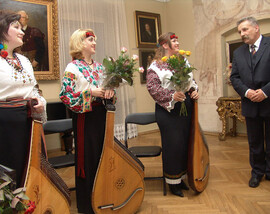 Concert in Gothic House Museum, New Sonch – Poland, 2004